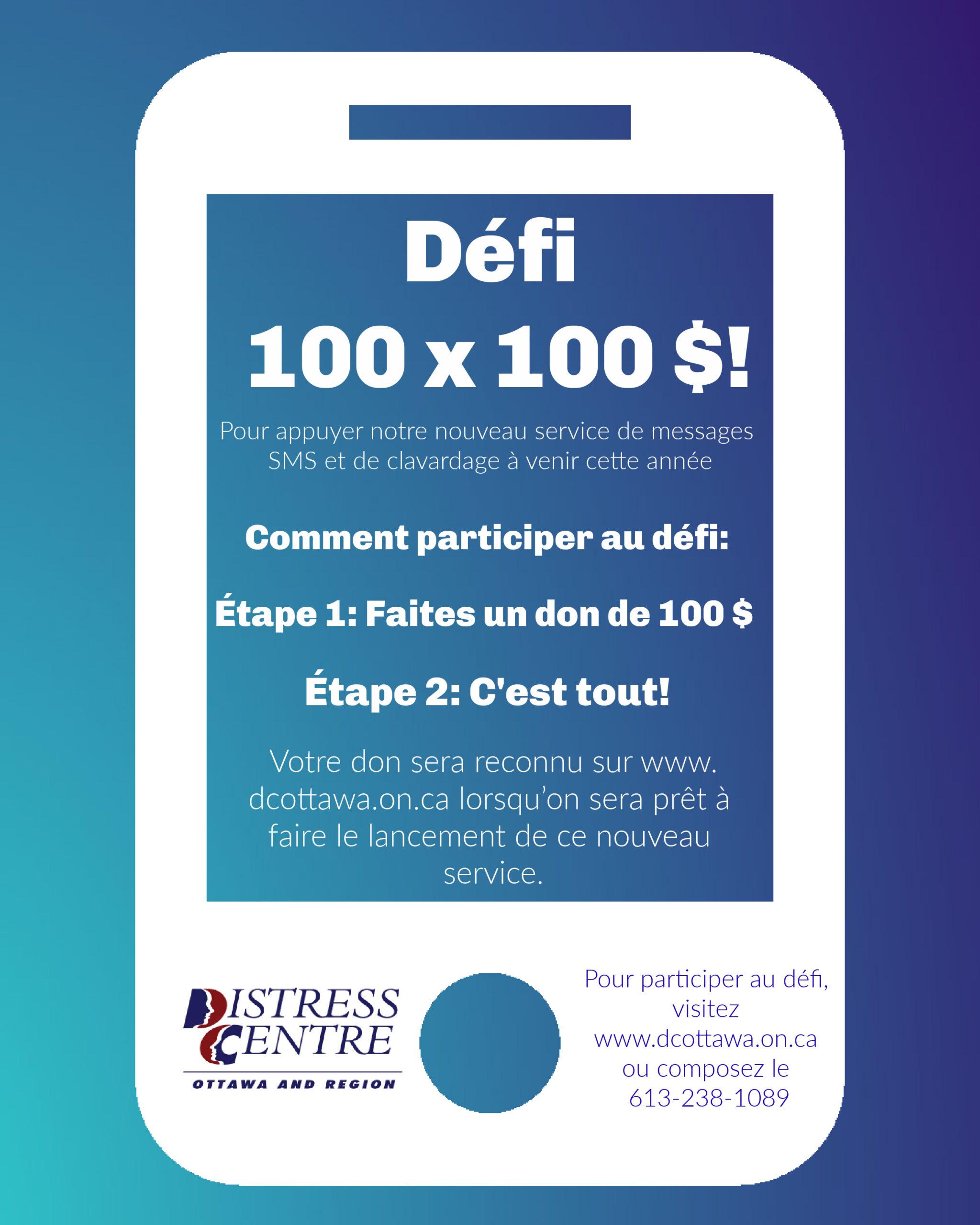 100x$100 Challenge 2020 French