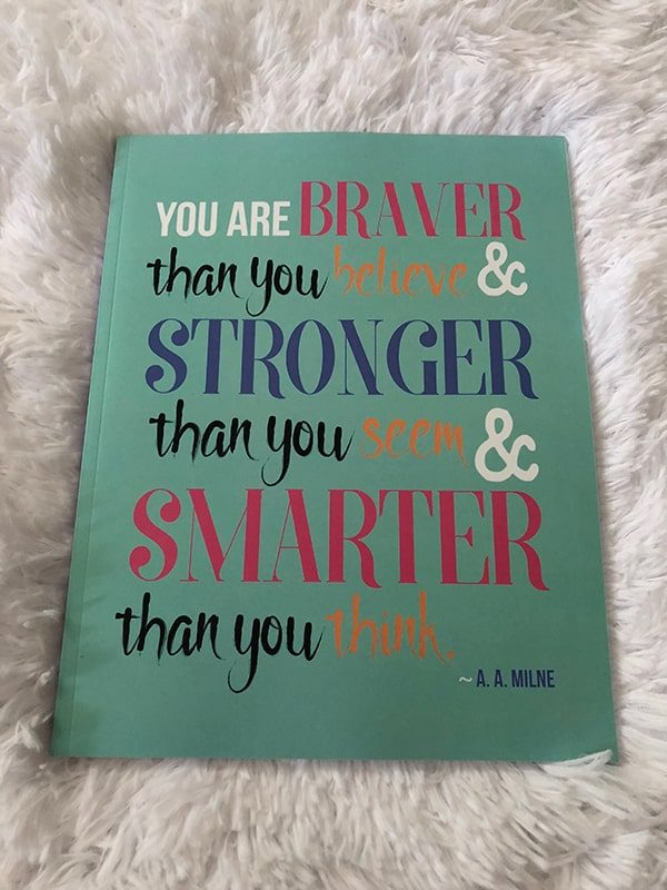 You're braver then you think journal