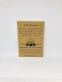 Wish Bracelet - Balancing & Protective - Brown Cord