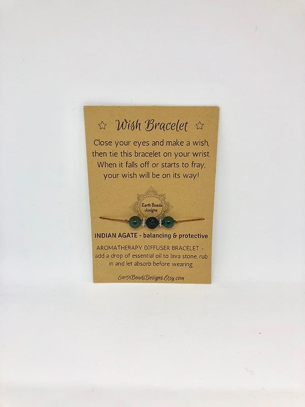Wish Bracelet - Balancing & Protective - Brown Cord