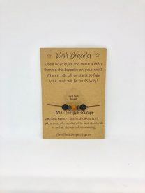 Wish Bracelet Lava - 3 stones