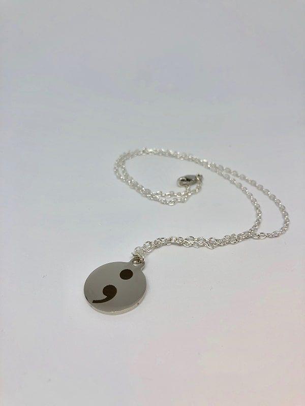 Semi-colon necklace