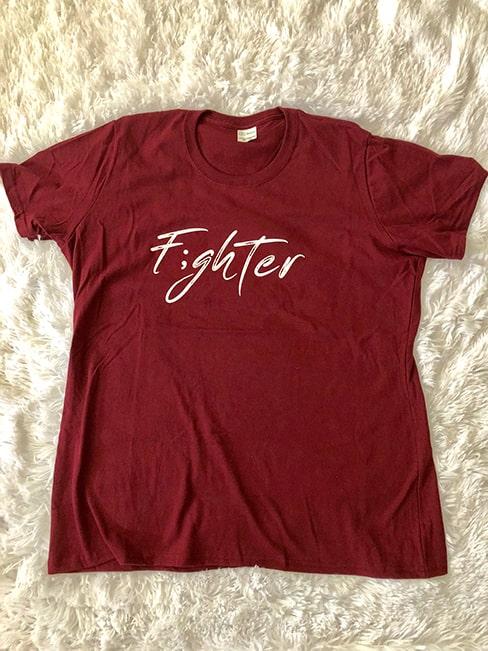 F;ghter Tshirt burgundy